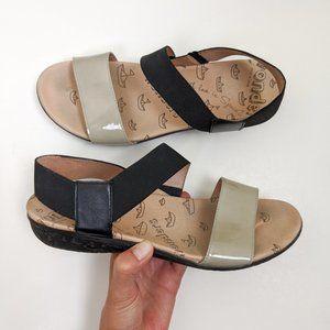 Wonders Comfort Strappy Sandal Black Beige 39